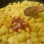 Pommes caramélisée au caramel beurre salé