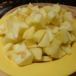 Dés de pommes