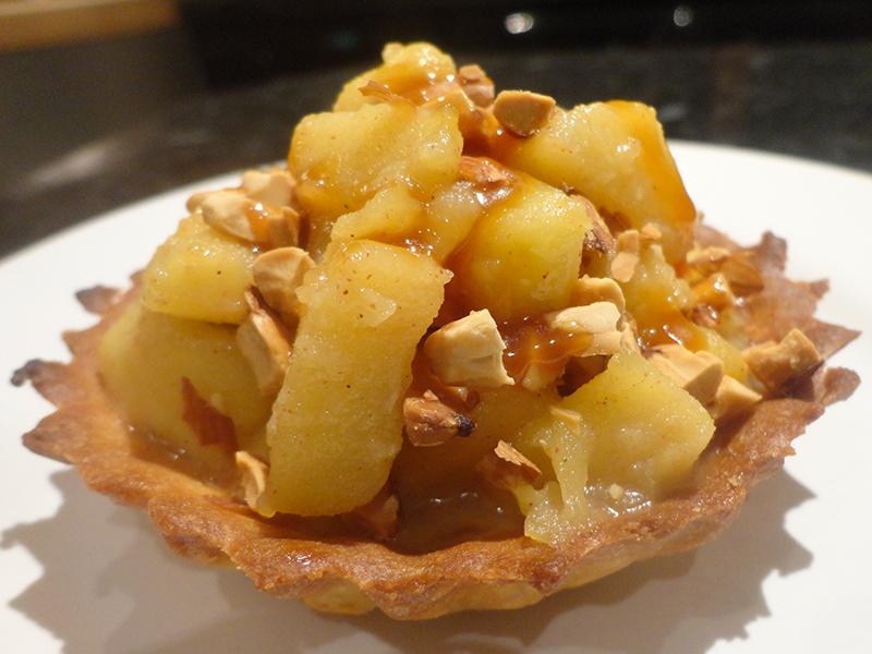 Tartelette pommes caramélisées au caramel beurre salé
