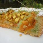 Part tarte abricots pistache