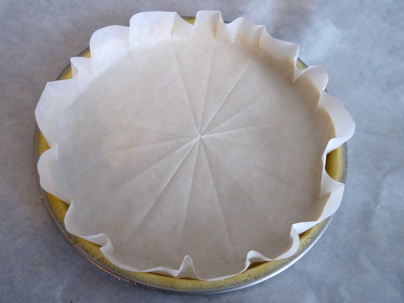 Rond de papier sulfurisé pour cuisson à blanc