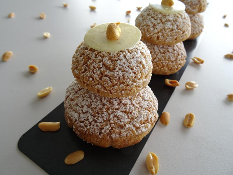 Religieuse cacahuète vanille – Fou de pâtisserie n°11