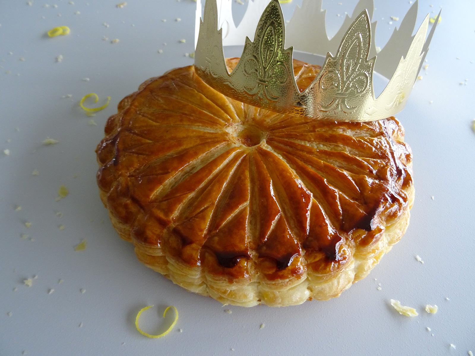 Galette des rois citron crème d'amandes