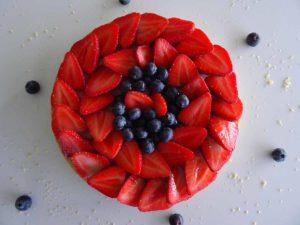 Tarte aux fraises fruits rouges