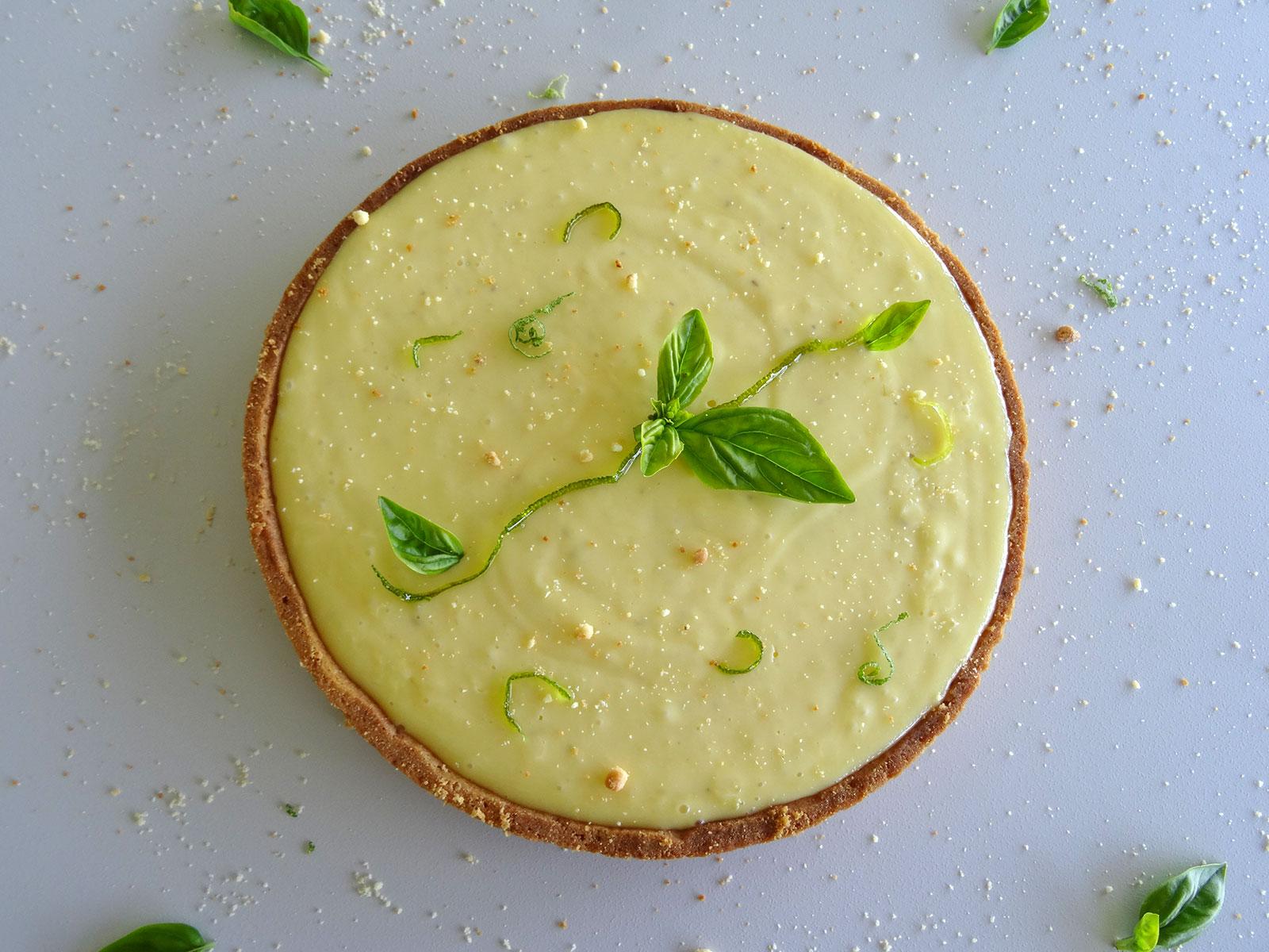 Tarte citron vert basilic de Jacques Génin – Fou de pâtisserie