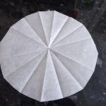 Réalisation d'un rond de papier sulfurisé